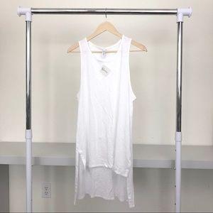 NWT Gold Soul LA White High Low Tank Dress